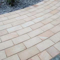 Global Stone 'Artisan Serenity' Sandstone Pathway Setts- Buff Brown
