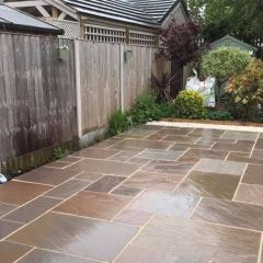 Stone Paving Traditional Sandstone - Autumn Brown
