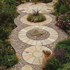Strata Stone Classic Sandstone Paving Circle - Mint