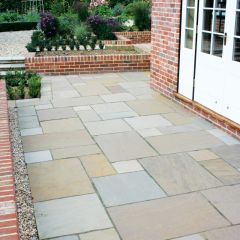 Global Stone 'Gardenstone' Sandstone Paving - Sunset Buff