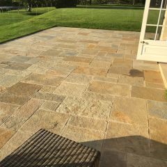 Hand Cut Honey Cathedral Paving