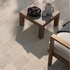 Global Stone 'Small Size' Porcelain Paving - Texture Beige
