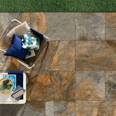 Strata Stone Porcelain Paving - Rustic Black Slate
