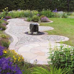 Global Stone Premium Sandstone Circle - Modak Rose